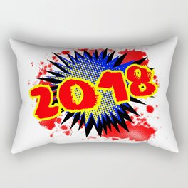 2018 Comic Exclamation Rectangular Pillow
