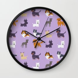 SCOTTISH DOGS Wall Clock