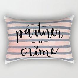 Partner in Crime Rectangular Pillow