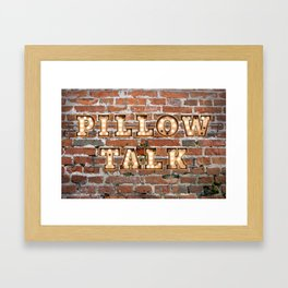 Pillow Talk - Brick Framed Art Print