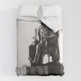 old man statue Comforters