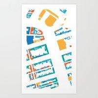 Amsterdam Land Use Art Print