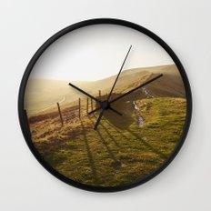 Rushup Edge at sunset. Derbyshire, UK. Wall Clock
