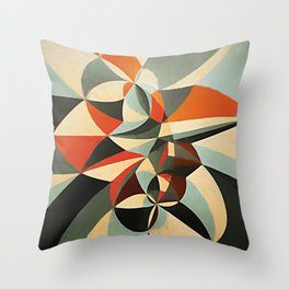 Abstract Composition 346 Throw Pillow