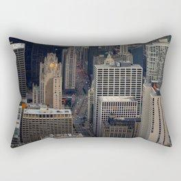 Michigan Avenue Bridge: A Bird's Eye View (Chicago Architecture Collection) Rectangular Pillow