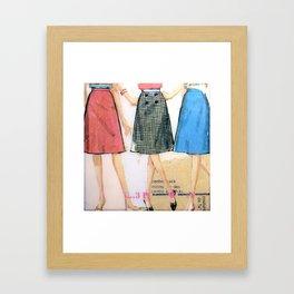 Three Skirts  Framed Art Print