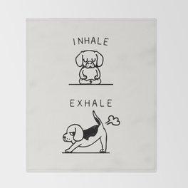Inhale Exhale Beagle Throw Blanket
