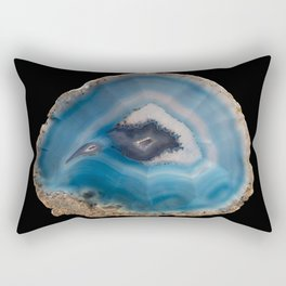 Blue Geode Rectangular Pillow