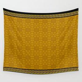 Greek Key - 2 Golden Wall Tapestry