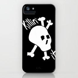 Killin' it Skull And Crossbones iPhone Case