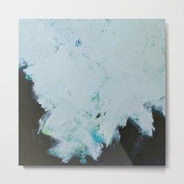 Skyline: Acrylic semi-abstract landscape, trees against the sky. Metal Print