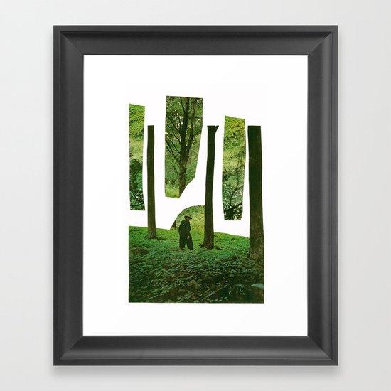 the trees Framed Art Print