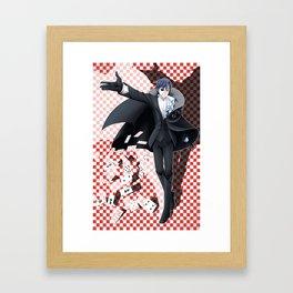 Ivy Phantom (red) Framed Art Print
