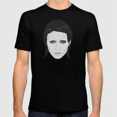 Lisbeth and Mikael / The Girl with the Dragon Tattoo MEDIUM Black Mens Fitted Tee