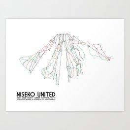 Niseko United, Japan - Japan Edition - Minimalist Trail Art Art Print