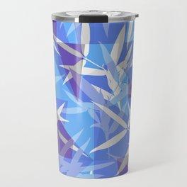 Bamboo in Blue Geometric Pattern Travel Mug