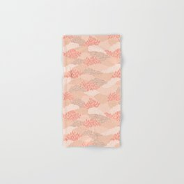 Dashes and dots in blush pink // abstract pattern Hand & Bath Towel