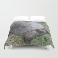 tortoise Duvet Covers featuring tortoise by shannon's art space