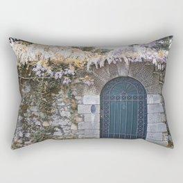Italian garden wall Rectangular Pillow