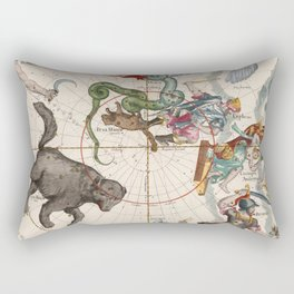 Vintage Star Atlas - Constellation Map Rectangular Pillow