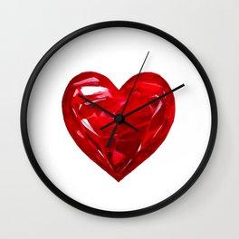 Garnet Heart Wall Clock