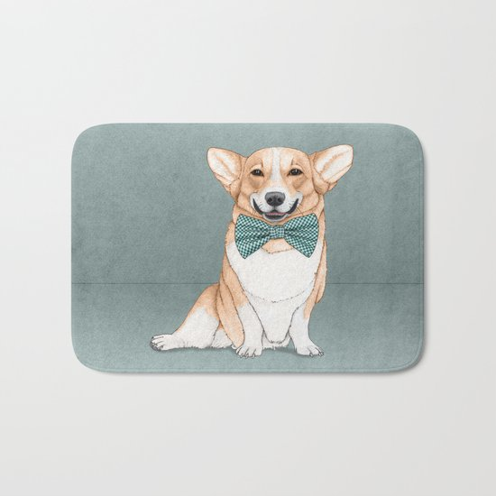 Corgi Dog Bath Mat