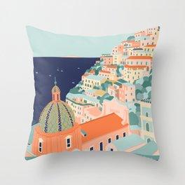 Amalfi coast, Positano, Italy Throw Pillow