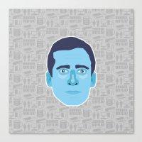michael scott Canvas Prints featuring Michael Scott - The Office by Kuki