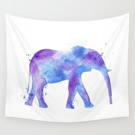 Watercolor Elephant Wall Tapestry