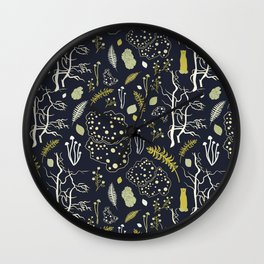 deep dark woods Wall Clock
