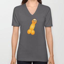 Emoji Dick Monocle Unisex V-Neck