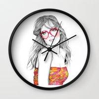 lolita Wall Clocks featuring Lolita by label tania