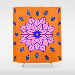 Flower Power Orange Vibes Shower Curtain