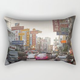 Yaowarat Road - Bangkok's Chinatown Rectangular Pillow