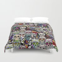 halloween Duvet Covers featuring halloween by mark ashkenazi