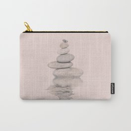 Balanced Harmony Zen Pebble soft pink Carry-All Pouch