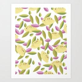 Vintage Lemons Art Print