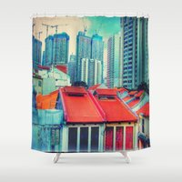 brussels Shower Curtains featuring Brussels or some tracks near there by thejennii