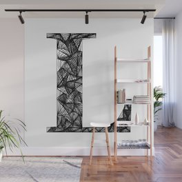 ''City Collection'' - Minimal Letter L Print Wall Mural