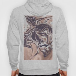 Liquid Rose Gold Violet and Marble Hoody