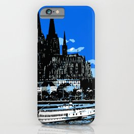Koeln Cologne retro vintage style travel advertising iPhone Case