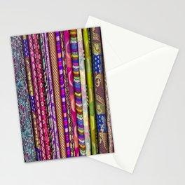 Sari Textiles from Dubai Market Stationery Cards