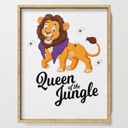 Queen Lioness Jungle Cat Girl Gift Serving Tray