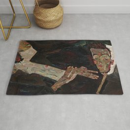 Der Lyriker (The Lyricist) by Egon Schiele (1911) Rug