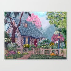 Essex House Cottage by Ave Hurley Canvas Print