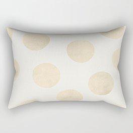 Gold Polka Dots Rectangular Pillow