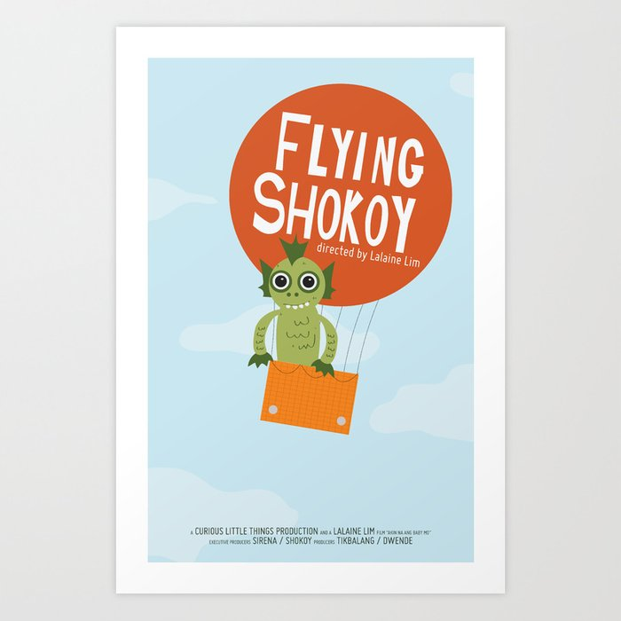 Flying Shokoy (Philippine Mythological Creatures Series) Art Print