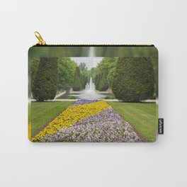 Purple and yellow pansies blooming Carry-All Pouch