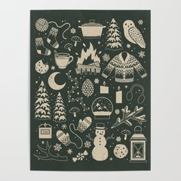 Winter Nights: Forest Poster