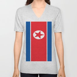 Flag of North Korea Unisex V-Neck